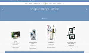 shop page of Patrice's site