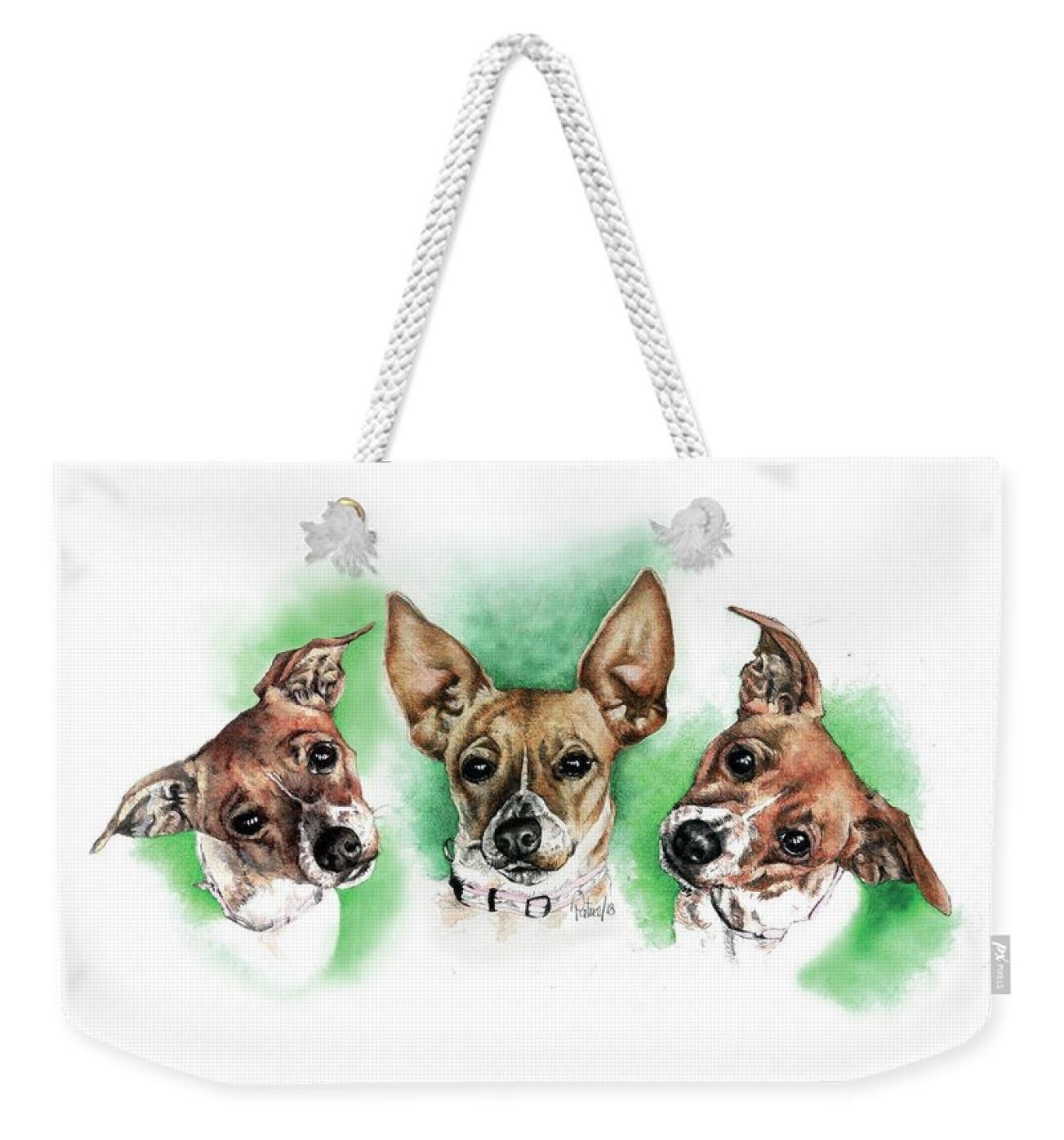 3 Faces of Foxy Weekender Bag
