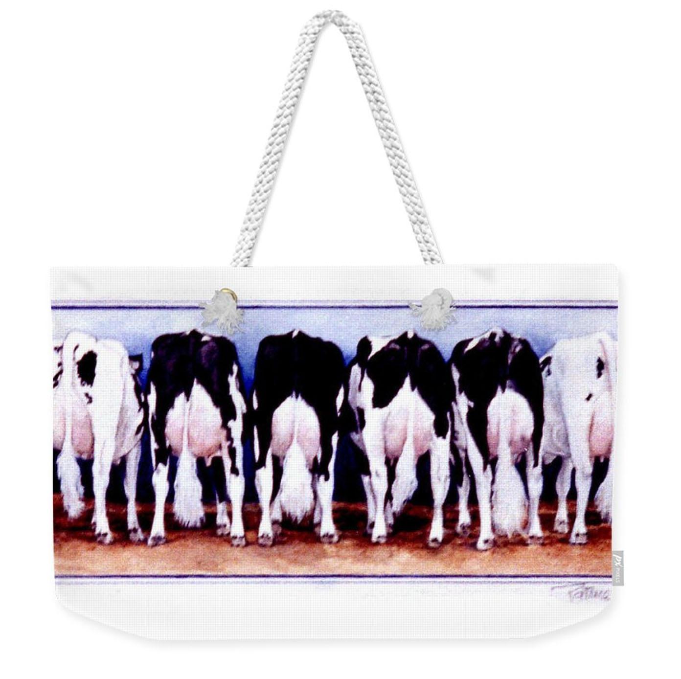 Cow Butts Weekender Tote Bag