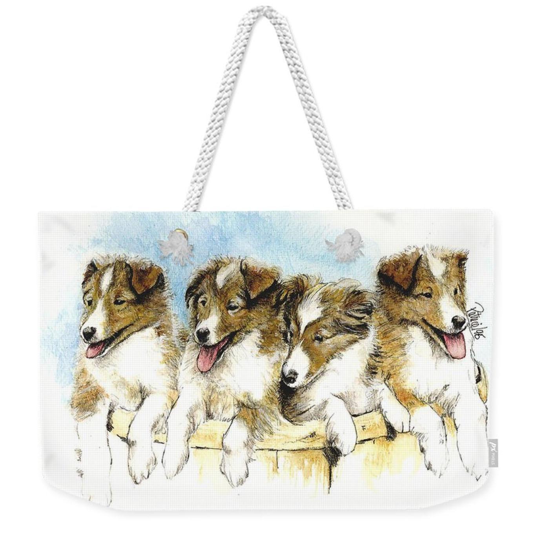 Shelti Pups Weekender Tote Bag