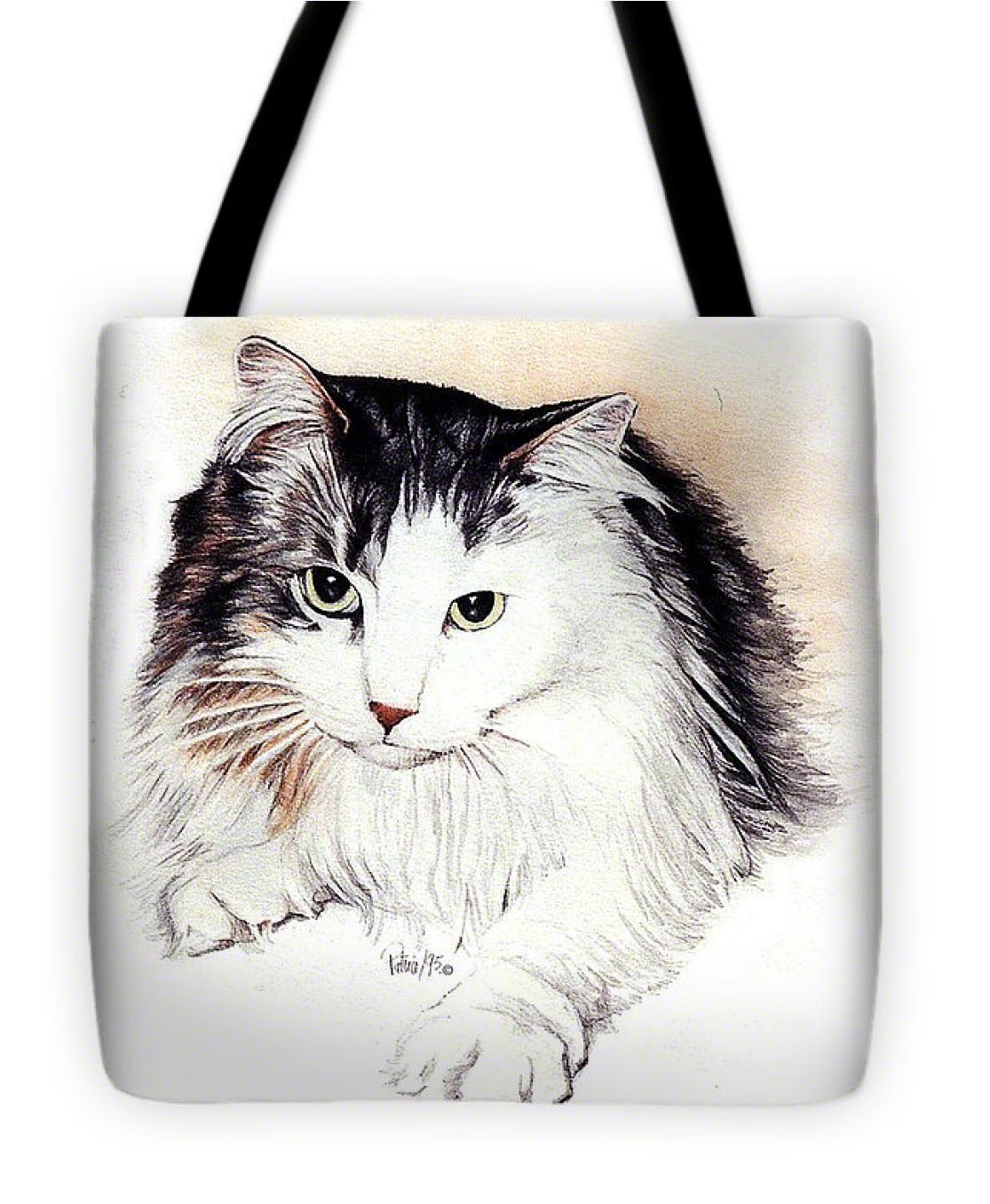 Long Haired Kitty Tote-Bag - Product by Patrice