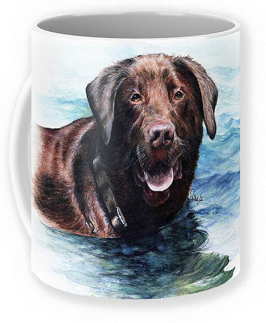 Chocolate Lab Coffee Mug ~ Art by Patrice