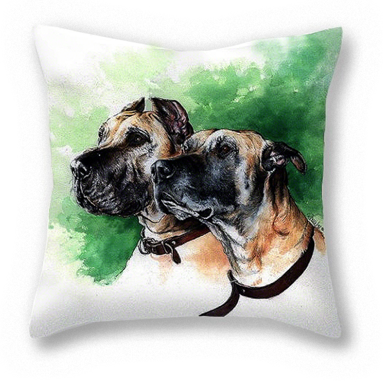 Great Dane Pillow ~ Art by Patrice
