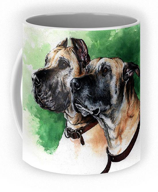 Great Dane Coffee Mug ~ Art by Patrice