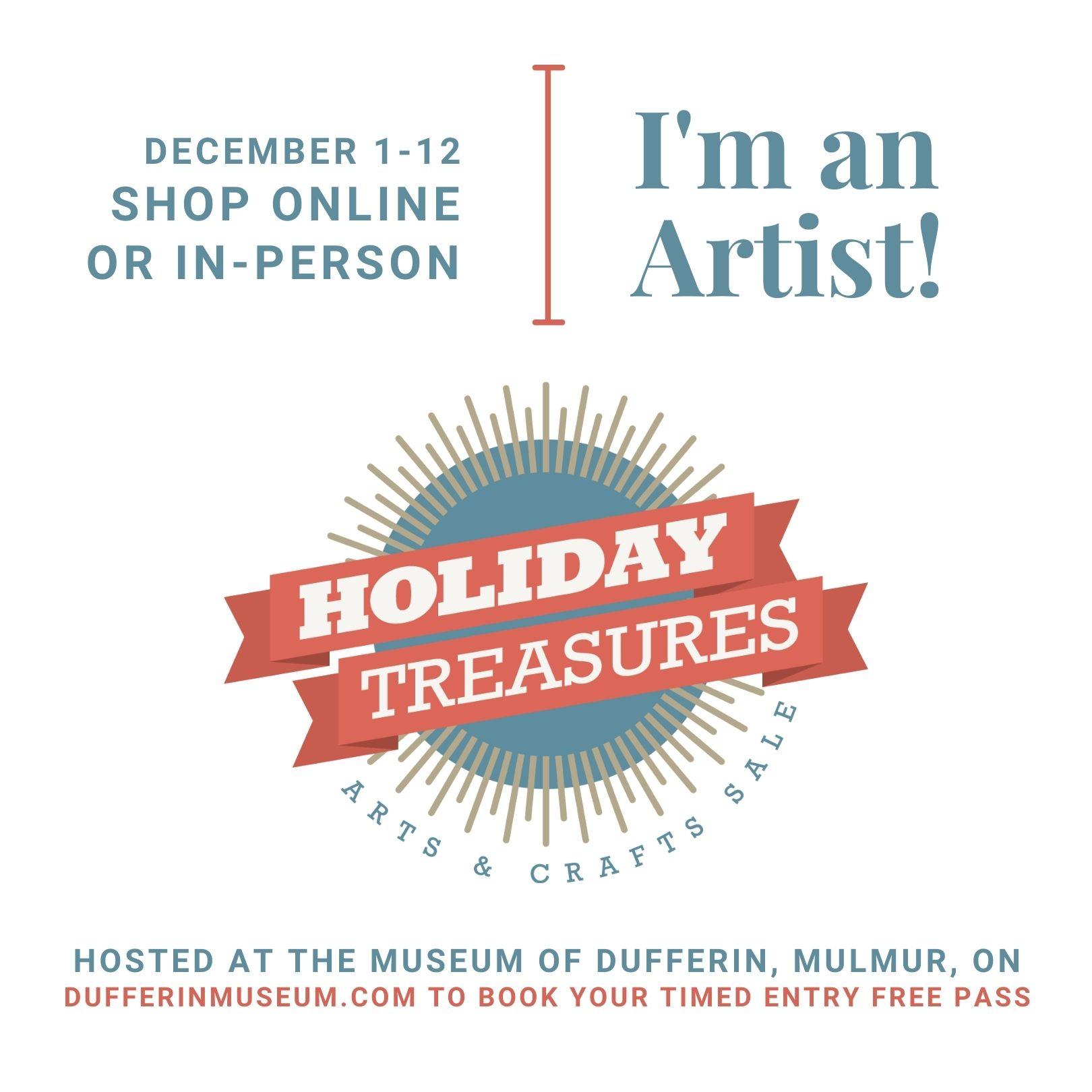 I'm an Artist at the Hidden Treasures Show!