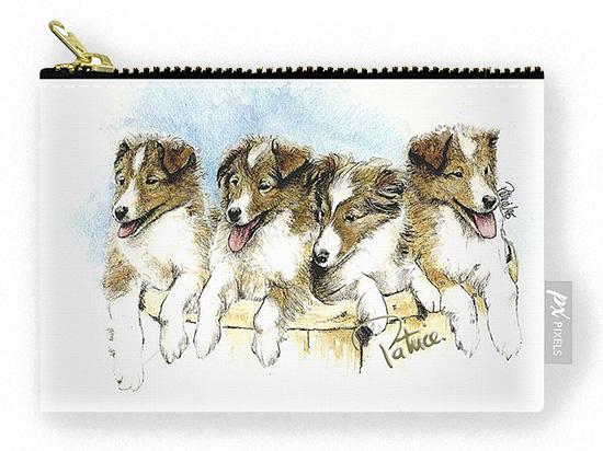 Sheltie Pups Pouch