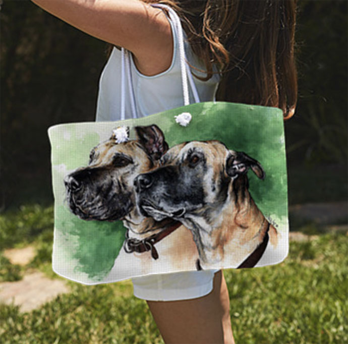 Great Danes Weekender Tote Bag ~ Art Products by Patrice