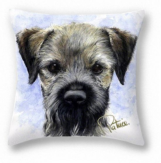 Vince's Border Terrier Pillow