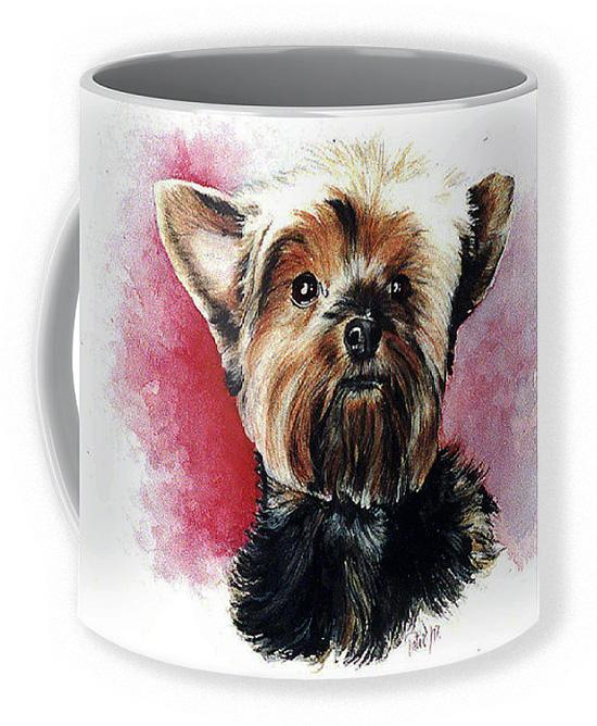Yorkie Coffee Mug ~ Art by Patrice